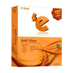 eScan Anti-Virus with Total Protection 3 User, 1 Year