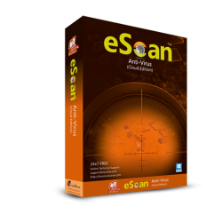 eScanAnti-Virus with Cloud Security 10Pc/1Year - WIth GOLD Coin