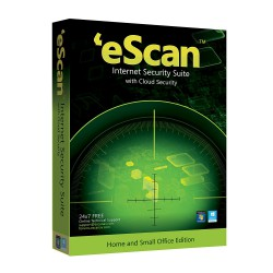 eScan Internet Security Suite with Cloud Security - 1 User, 1 Year (CD) - WIth GOLD Coin
