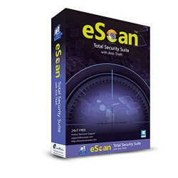 eScan Total Security Suite with Cloud Security - 1 User, 1 Year (CD) - With GOLD Coin