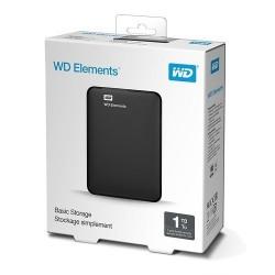 WESTERN DIGITAL 1TB EXTERNAL HARD DISK - ELEMENTS