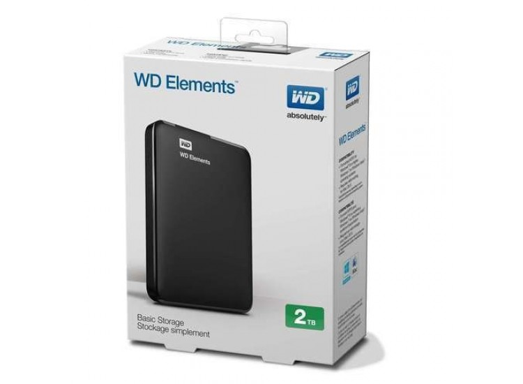 WESTERN DIGITAL 2TB EXTERNAL HARD DISK - ELEMENTS