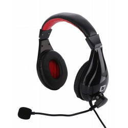 Live Tech Black Stereo Ergonomical Designed Headphones with Mic - HP 24