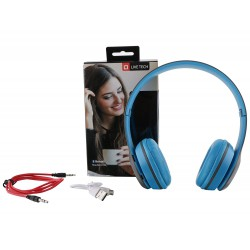 Live Tech Bluetooth Blue Headphones with FM Radio Function and Micro SD Card Reader - BH 03