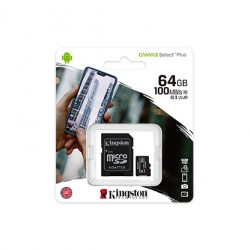 KINGSTON 64GB MICRO SD WITH ADAPTER CLASS 10